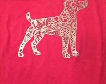Zentangle Jack Russell Shirt