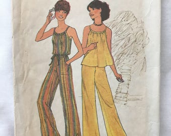 Simplicity 7486, Size 12, Misses Pullover Top and Wide Leg Pants UNCUT PATTERN