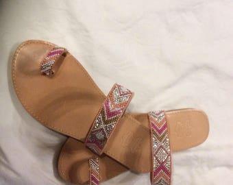 Leather sandlas
