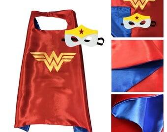Superhero Girl's Wonder Woman Girl Dress Up Costume Cape Set