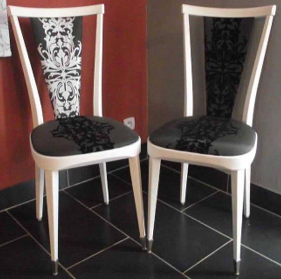 chaises relooker dans un style baroque vendu. Black Bedroom Furniture Sets. Home Design Ideas