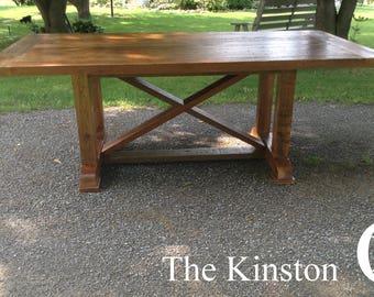 kinston style rustic barnwood barn wood farm table