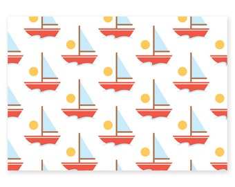 """Map postcard """"boats"""" in size 10 * 15cm"""