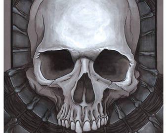 10x20 Skull Illustration