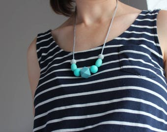 Silicone Necklace - Teal
