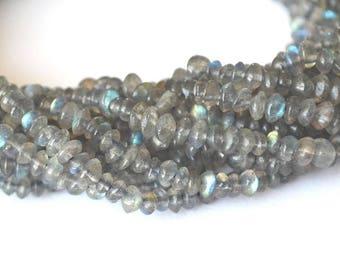 Set of 10 beads Labradorite rondelles 3.5 - 4 mm
