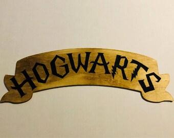 Harry Potter Hogwarts Inspired Wood Sign Decor