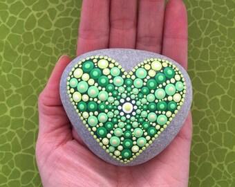 Heart Stone Green Love