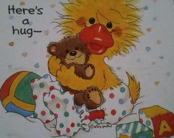 Vintage  Greeting Card ~ Suzy Zoo Card  - Littlest Quacker - Baby Duck