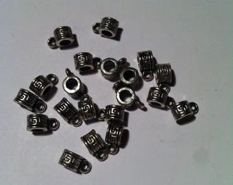 Set of 20 6mm silver-plated bails