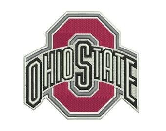 Ohio State Buckeyes Embroidery Design - 4 SIZES