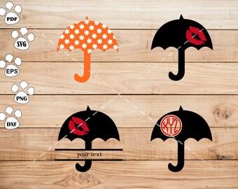 Umbrella Files, Umbrella Clipart, cricut, cameo, silhouette cut files commercial &  personal use
