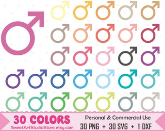 Male Symbol Clipart, Gender Sign, Gender Symbol planner SVG Silhouette Cricut Cut File Commercial Use (Png Svg Dxf)