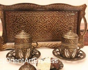 Turkish Coffee, Turkish Coffee sets, Espresso set, Vintage Coffee set, Coffee Set, Coffee mugs, Espresso coffee cup, moroccan tea