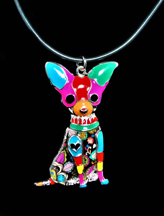 Chihuahua Pendant Necklace Statement Necklace Tattoo