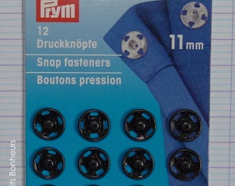 12 snap buttons sewing buttons 11 mm black Prym 341 166