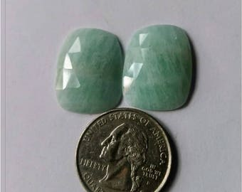 Amazonite Rose cut slice Pair/octagon rose cut slice pair/Cabochon Slice/natural Amazonite /Cabochon rose cut/Earring slice pair/loose rose
