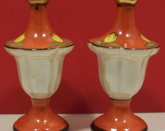 Made in Japan - Porcelain Lusterware Salt and Pepper Shakers