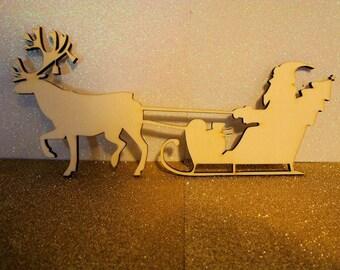 Santa Claus 1622 and his sleigh