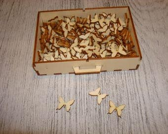 lot 50 butterflies 1723 embellishment wooden creations