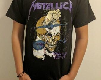 METALLICA DAMAGED JUSTICE t shirt