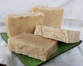 Handmade & Handcut Cold Process Soap HONEY OATMEAL