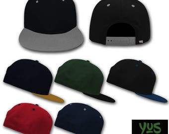 Two tone Snapback Hat/personalized with embroidery YUS-Your Unique Style