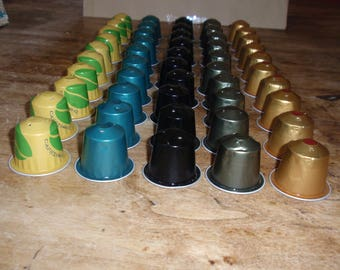 LOT 6 EMPTY NESPRESSO COFFEE CAPSULES AND CLEAN