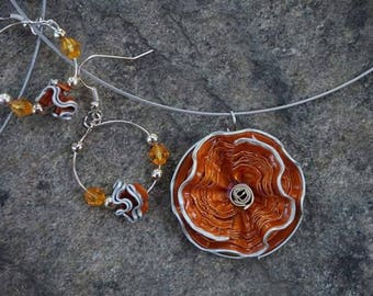Adornment jewelry necklace and earrings