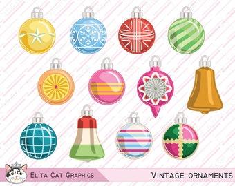 Vintage Xmas ornaments // Glass Christmas ornaments