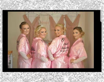 Personalised  satin wedding robes