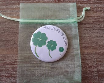 "Pocket mirror ""Clover happiness"""