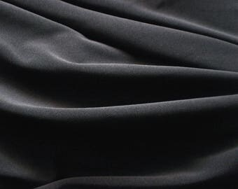 Jersey polyester fabric / black spandex