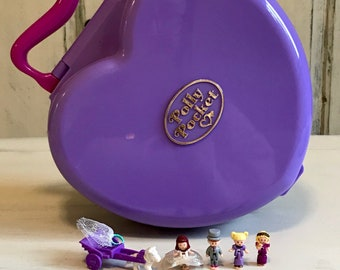 Vintage Polly Pocket Musical Polly's Wonderful Wedding Party-1994-Complete -Perfect Condition