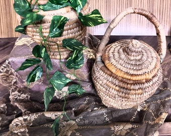 Pair of Retro Woven Baskets