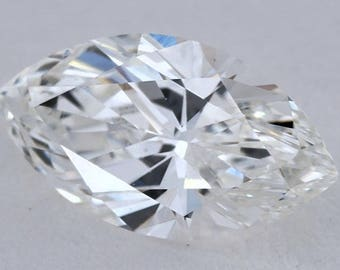 1.12ct Marquise Loose diamond GIA certified H-SI1 Blueriver4747