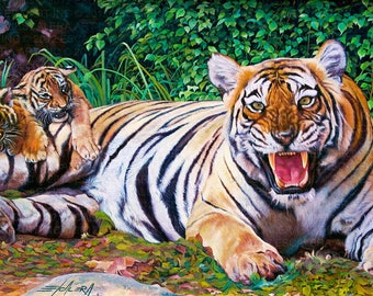 Tigre // Giclee on Canvas