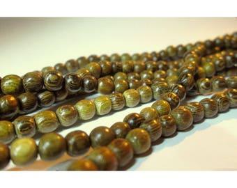 30 wooden beads - 4 / 5mm - natural shades