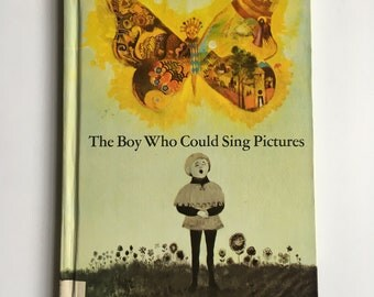 Rare Vintage Chapterbook 1960s Children's Book - The Boy Who Could Sing in Pictures - written and illustrated by Seymour Leichman