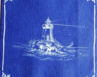 TOWEL in paper lighthouse on rough seas #M026