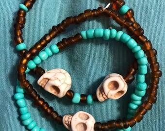 Boho Skull Bracelet Set