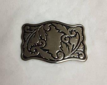 Western Silver TONE Belt Buckle