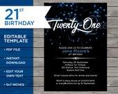 21st Birthday Invite, Cus...