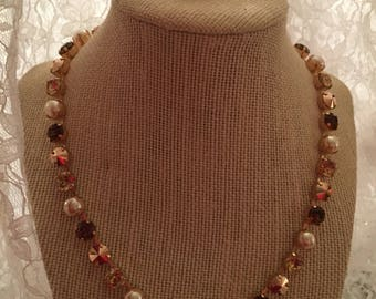 8mm Necklace and Earring Set with Swarovski stones