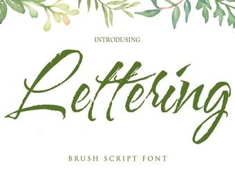 Calligraphy Font Handwritten Script Wedding Watercolor Instant Download - Lettering Font