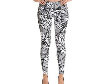 mandala - Leggings - yoga leggings -printed leggings - Cute printed leggings - colorful leggings - womens leggings - workout leggings - uniq