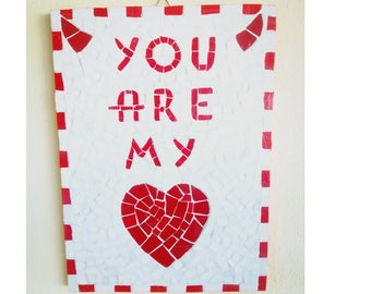 Picture in mosaic declaration of love. Valentine's Day. Gift for you.