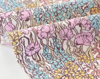10% LIBERTY turquoise Baby Cord 68x145cm Tiny Poppytot pink velvet fabric