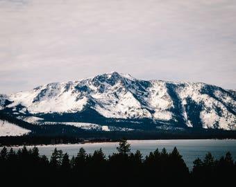 Lake Tahoe Winter Mountains (Digital Download)