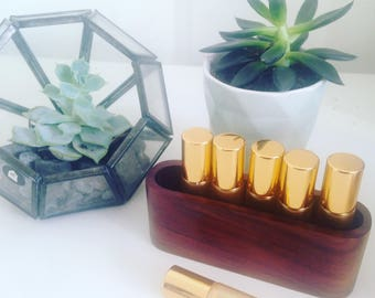 Essential oil roller display